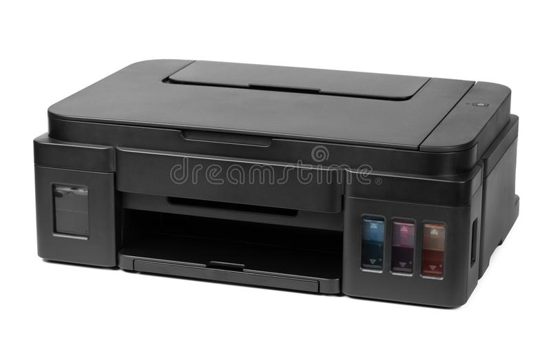 Printer isolated on white background stock photos