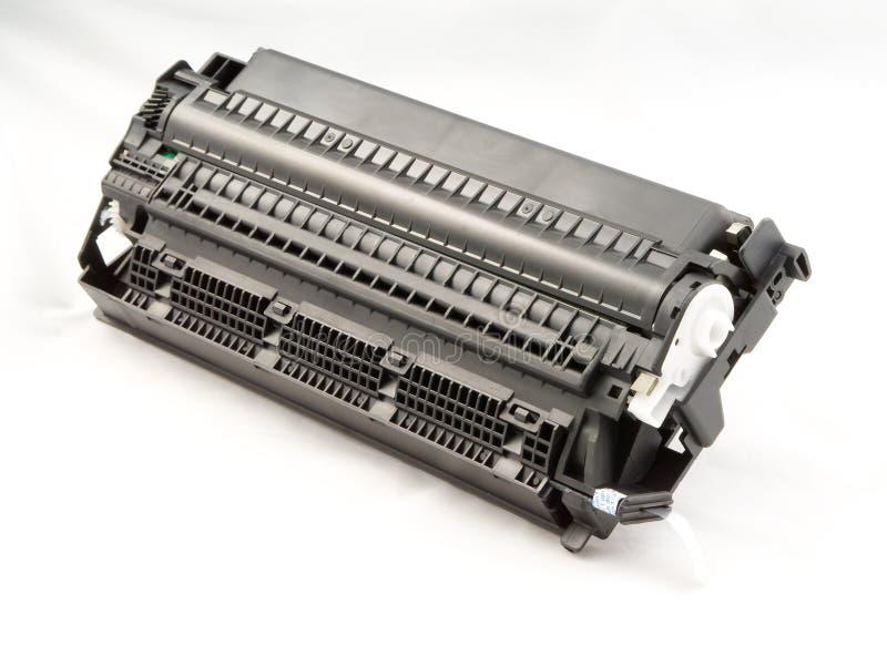 Printer laser cartridge. Black and white printer laser cartridge isolated photo stock images