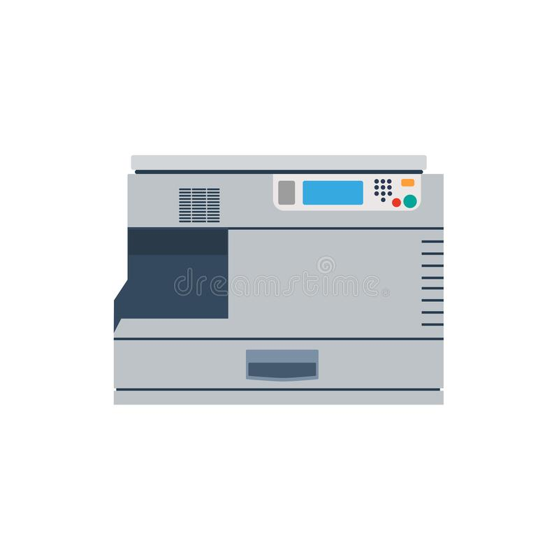 Printer machine office copy vector. Print business icon copier stock illustration