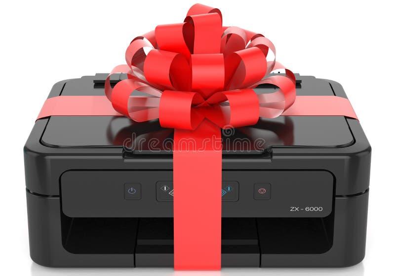 Printer met een boog royalty-vrije illustratie