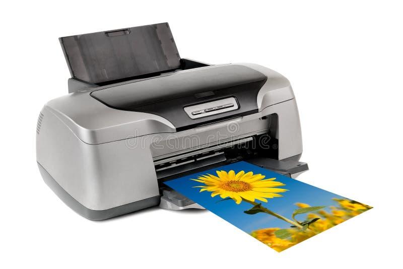 Printer. Photo inkjet printer, on white background; isolated