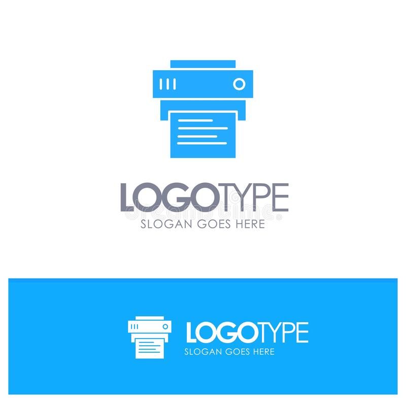 Printer, Print, Printing, Education Blue Logo vector vector illustration