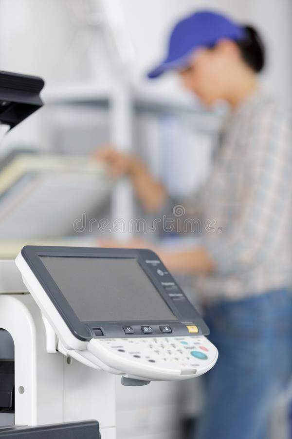 Printer printer scanner laser office copy machine supplies start concept royalty free stock images
