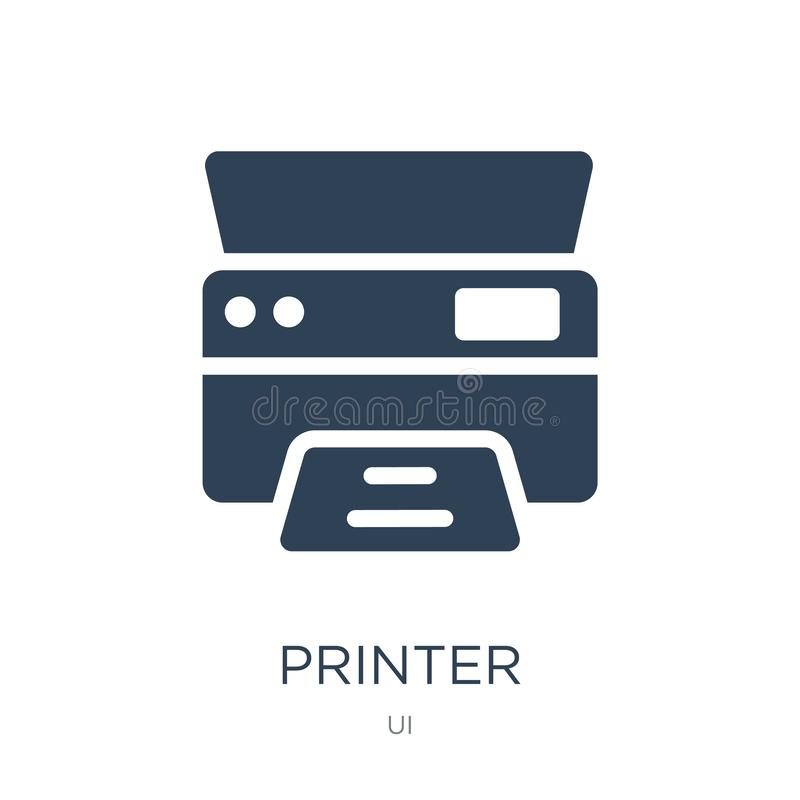 Printer printing squares icon in trendy design style. printer printing squares icon isolated on white background. printer printing. Squares vector icon simple vector illustration