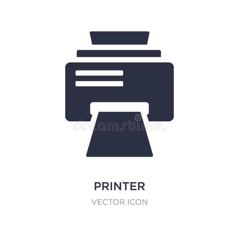 Printer printing squares icon on white background. Simple element illustration from UI concept. Printer printing squares sign icon symbol design royalty free illustration