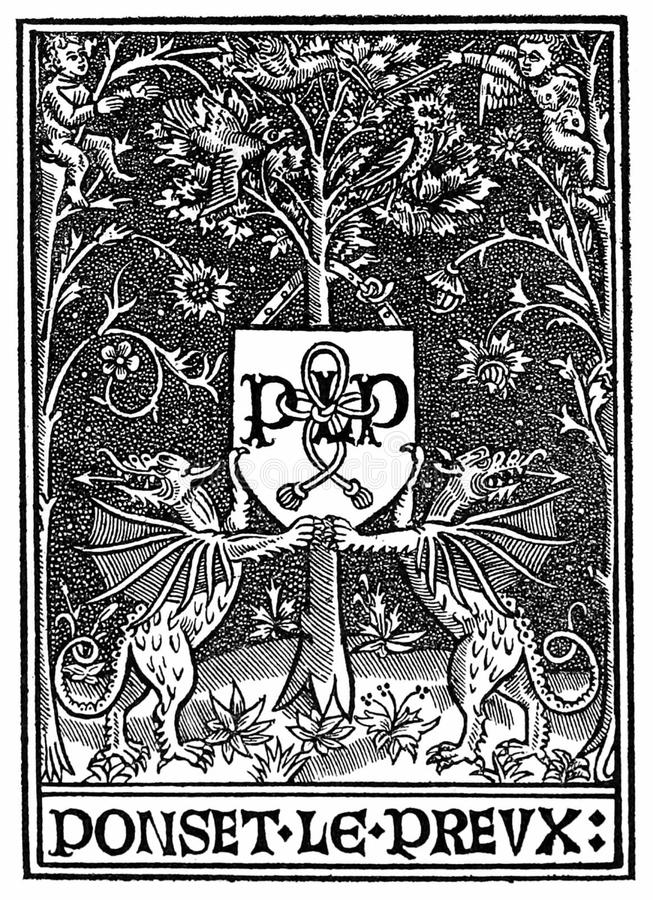 Printer's Mark of Poncet le Preux royalty free stock photo