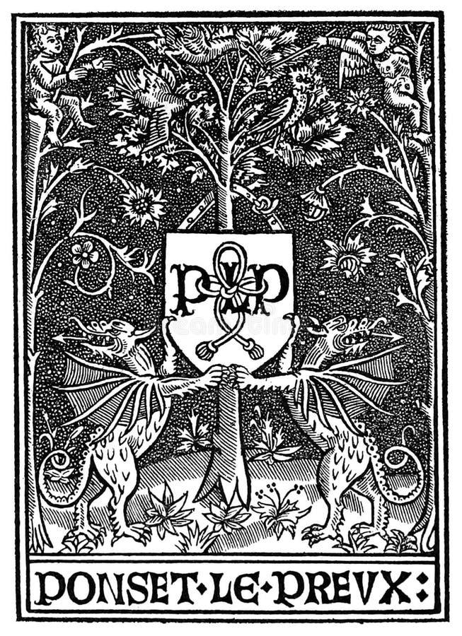 Printer's Марк Poncet le Preux стоковое фото rf