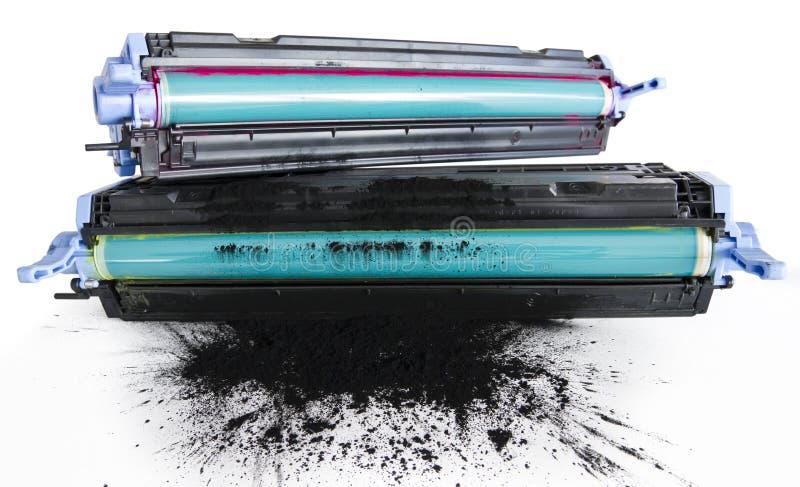Printer toner cartidges. Refurbished Printer Cartidge. Cylinder Replacement And Toner Refill stock image