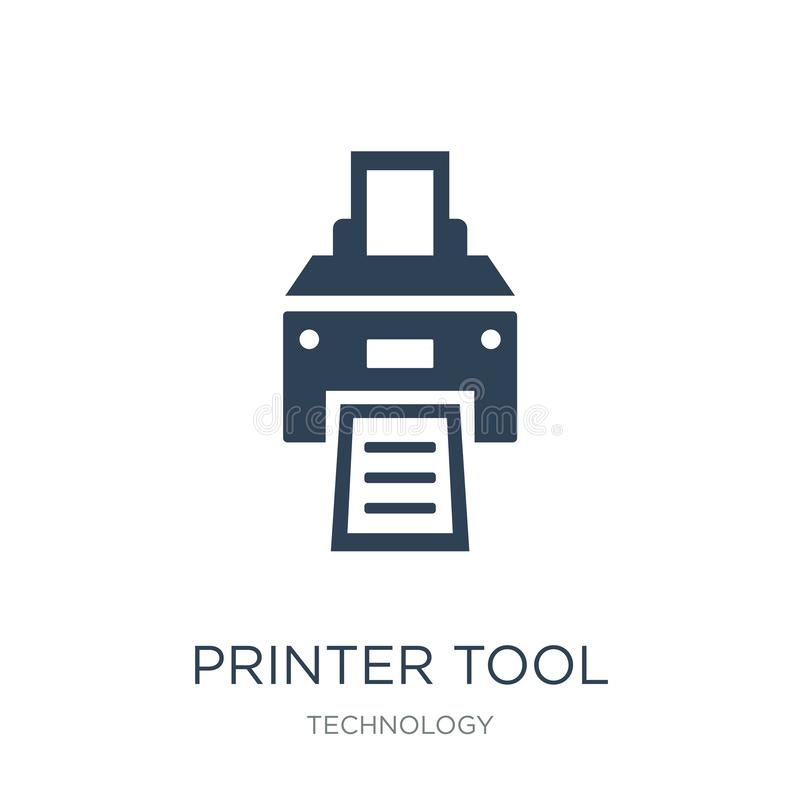 Printer tool icon in trendy design style. printer tool icon isolated on white background. printer tool vector icon simple and. Modern flat symbol for web site vector illustration