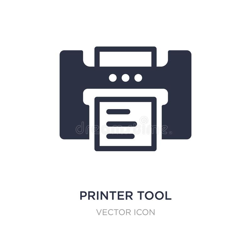 printer tool icon on white background. Simple element illustration from Technology concept stock illustration