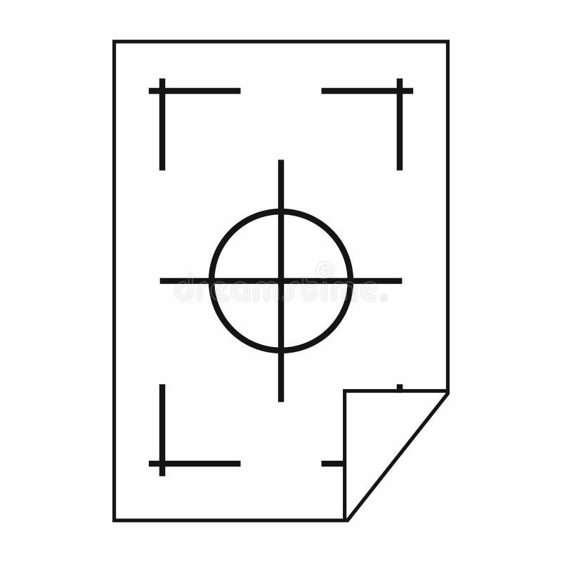 Printertekens op een document pictogram, eenvoudige stijl vector illustratie
