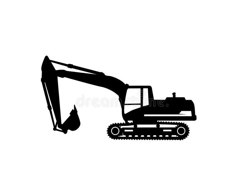 Excavator logo template vector. Heavy equipment logo vector for construction company. Creative excavator illustration for. Logo template stock illustration
