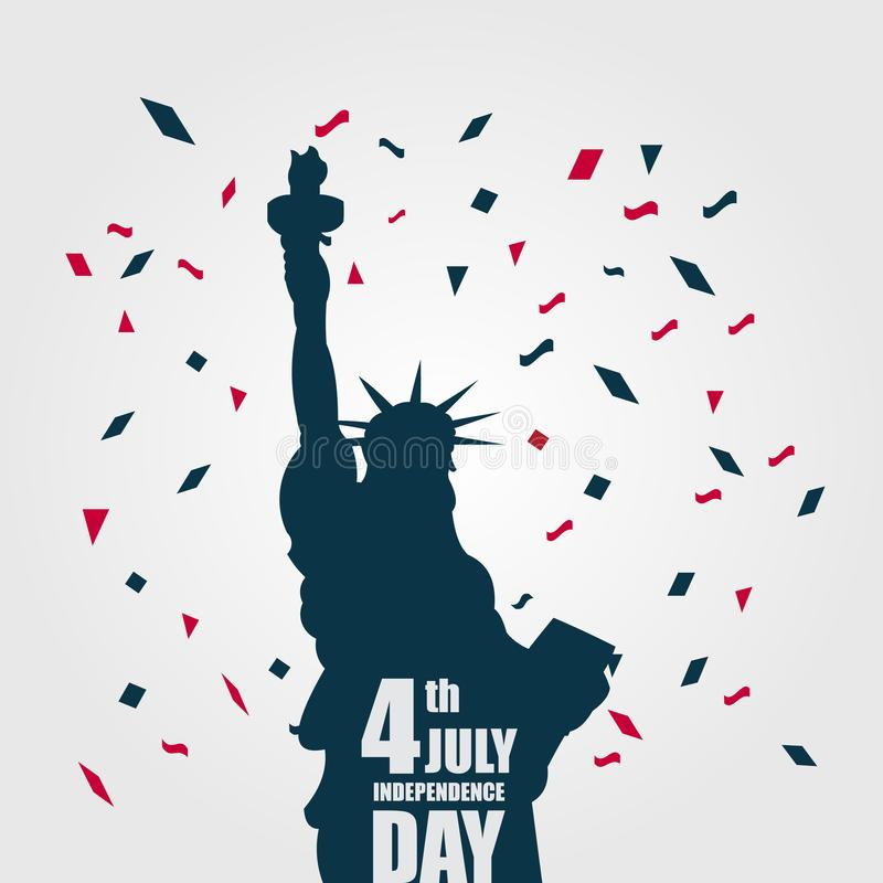 PrintIndependence Day 4th July Vector Template Design Illustration. July 4th fourth independence day happy background greeting design usa illustration vector royalty free illustration