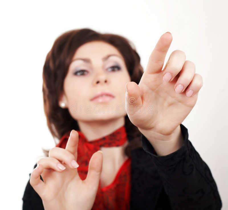 Download Printing stock image. Image of woman, girl, finger, businesswoman - 4679845