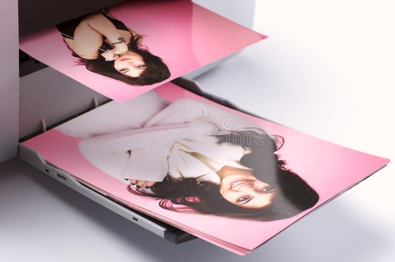 Printing colorful photos royalty free stock photo