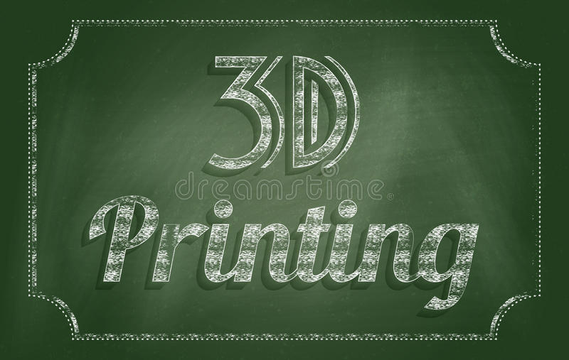 printing 3d royaltyfri illustrationer