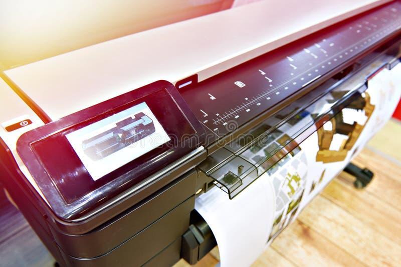 Printing för stort format arkivfoto