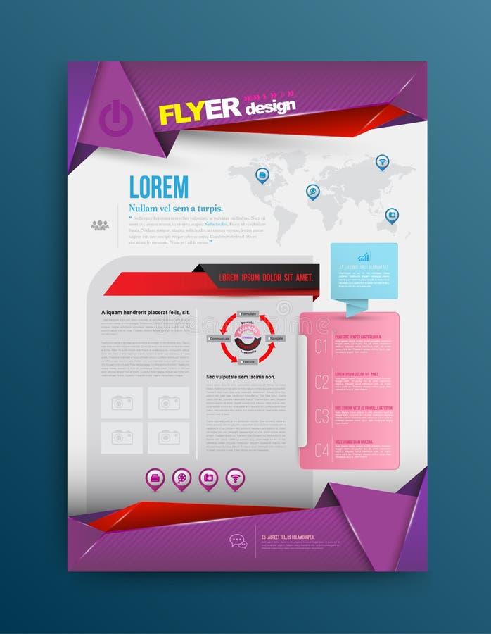 Printing för vektordesignmall vektor illustrationer