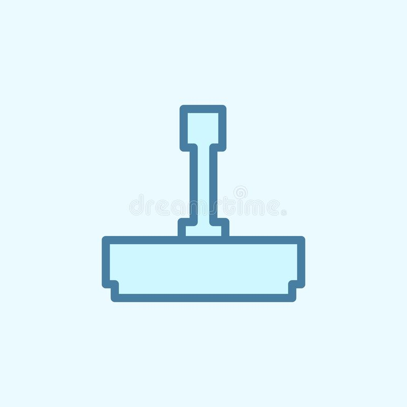 printing field outline icon. Element of 2 color simple icon. Thin line icon for website design and development, app development. royalty free illustration