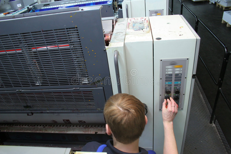 Printing house stock image
