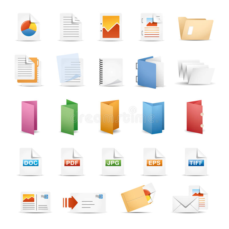 Printing Icons. Icon Set for press & Office vector illustration