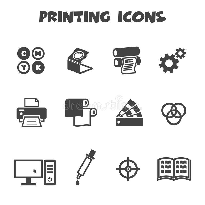Free Printing Icons Royalty Free Stock Images - 39083359