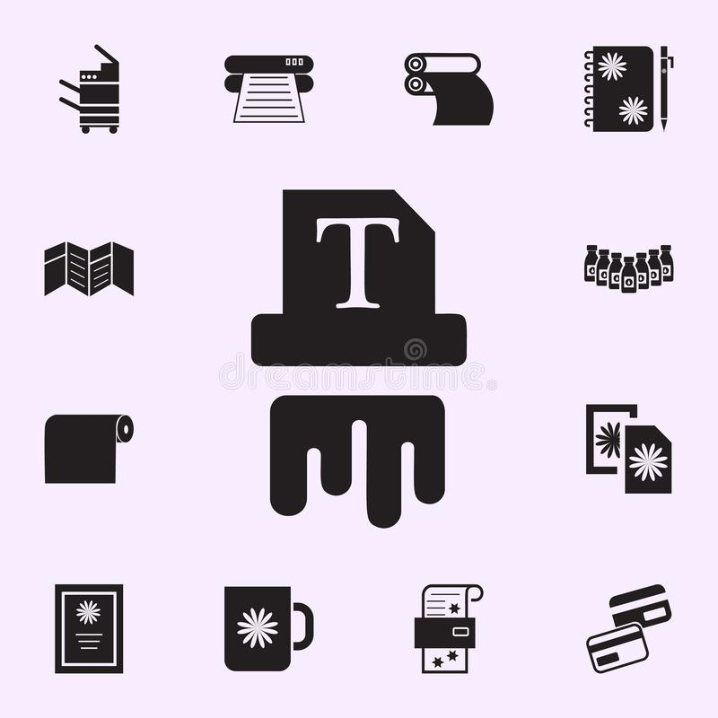 printing ink icon. Print house icons universal set for web and mobile royalty free illustration