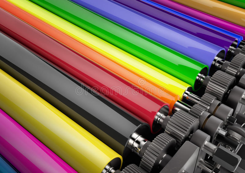 Printing machine royalty free stock photography