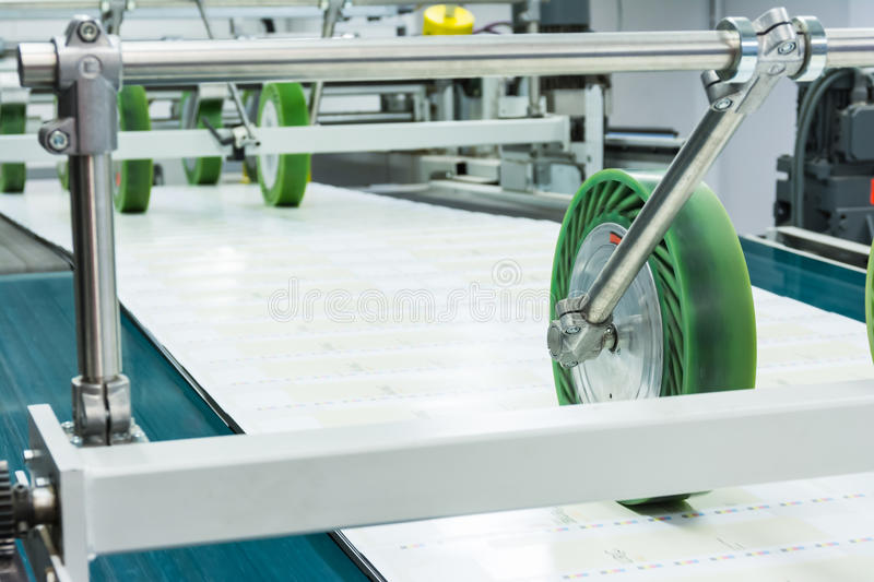 Printing Packaging Industry Lines Factory Technology Equipment Q stock image