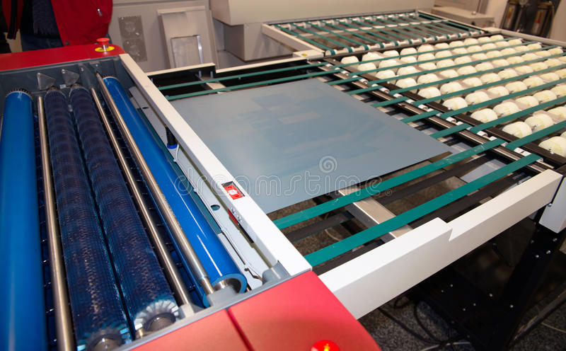 Printing Plant - CTP Computer to plate department royalty free stock images