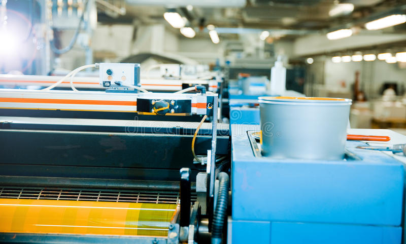 Printing press. Close detail of printing press royalty free stock photography