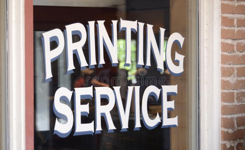 Printing Service. A Printing Services simplifies workflow to cut time and costs with business solutions, software, printers and printing service royalty free stock image