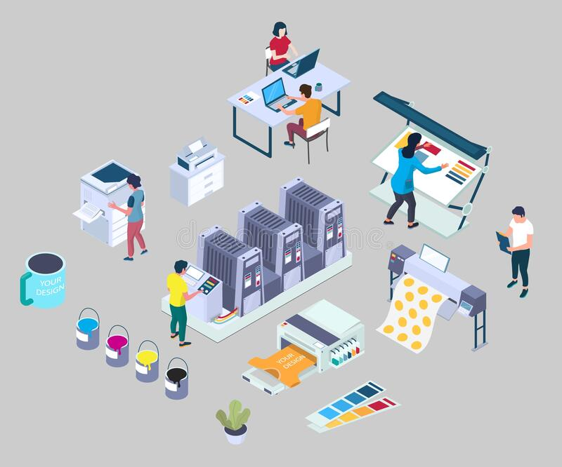 Vector Isometric Copy Print Shop Stock Illustrations – 21 Vector Isometric  Copy Print Shop Stock Illustrations, Vectors & Clipart - Dreamstime