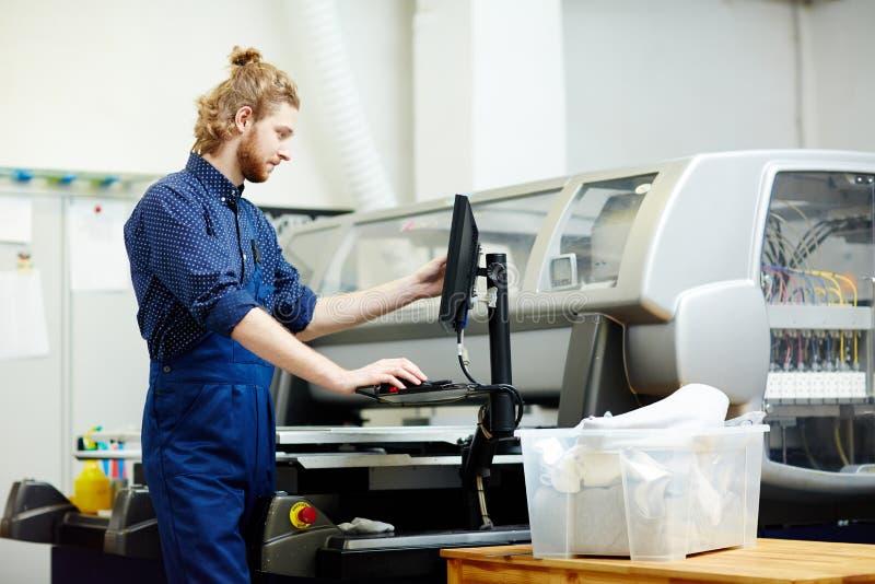 Printingtillverkning arkivfoton
