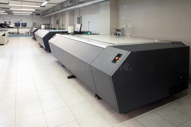 Printingväxt - Flexographic printingplattor royaltyfri fotografi