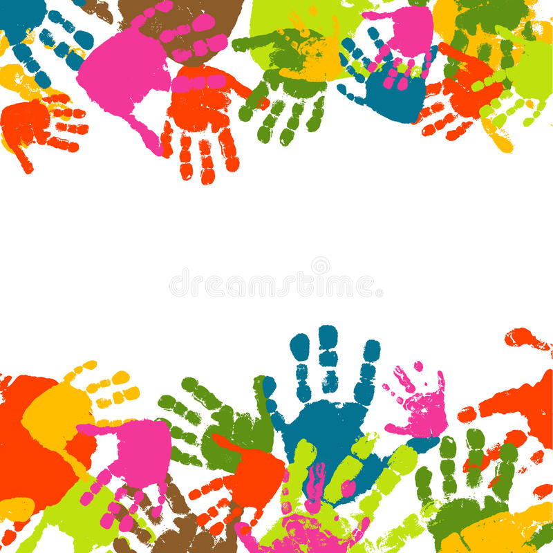 Prints Of Hands Of The Child Stock Photography