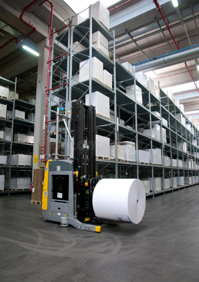 Download Printshop: Automated Warehouse (for Paper) Stock Image - Image of industrial, action: 26857667