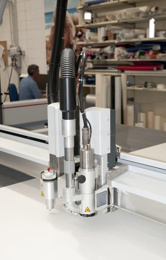 Printshop - het snijden plotter stock foto