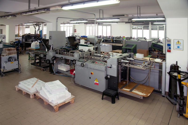 Download Printshop: Post Press Finishing Line Stock Photo - Image: 20423980
