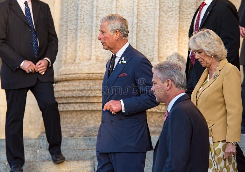 Prinz Charles mit Camilla, Herzogin von Cornwall stockbilder