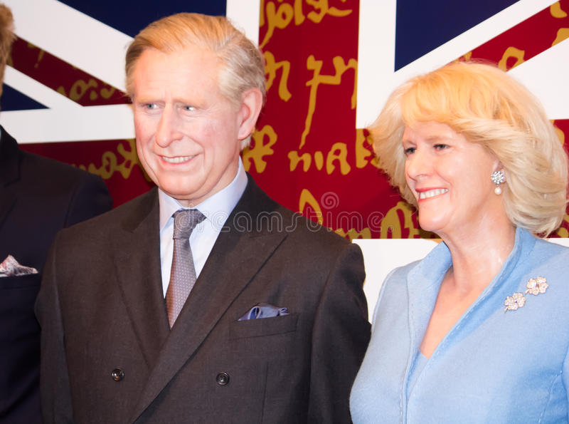 Prinz Charles und Camilla Parker Bowles stockfotografie