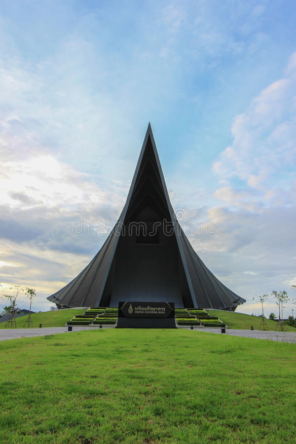PRINZ MAHIDOL HALL, Mahidol-Universität, Salaya, Phutthamonthon-Bezirk, Nakhon- Pathomprovinz, Thailand stockfotografie