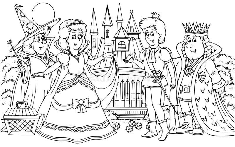 Prinz und Prinzessin lizenzfreie abbildung