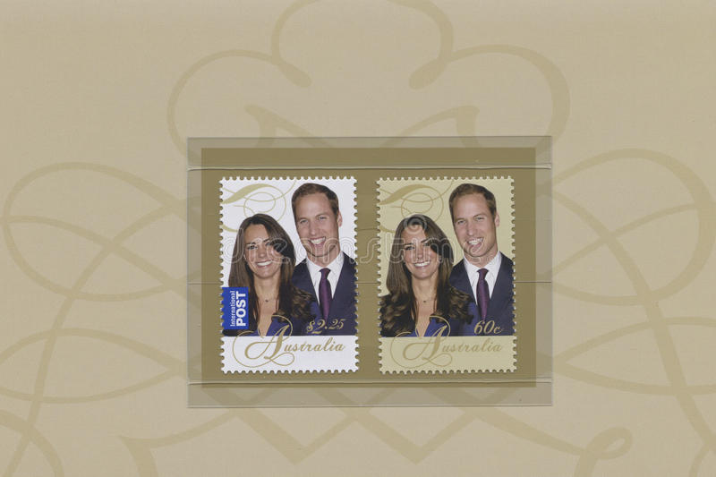 Prinz William und Catherine Middleton lizenzfreies stockfoto