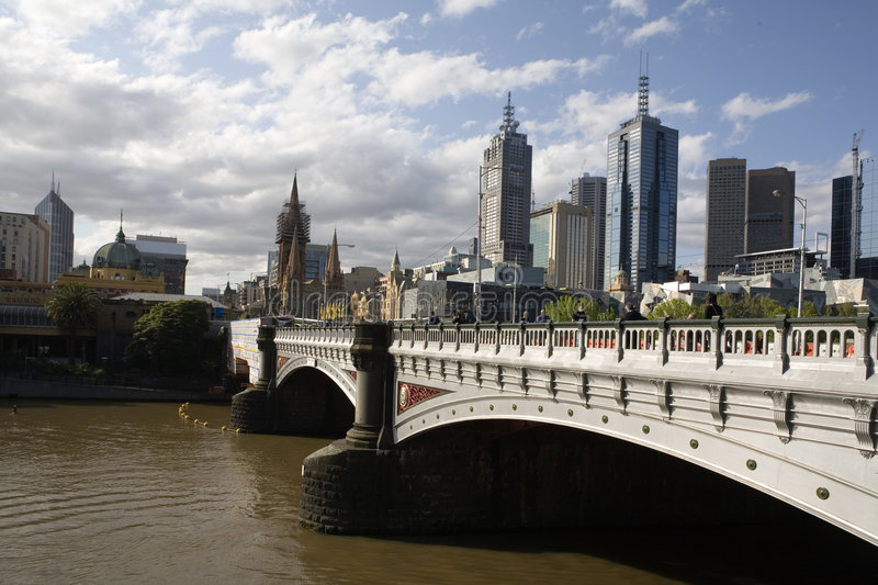 Prinzen Bridge Melbourne stockbild