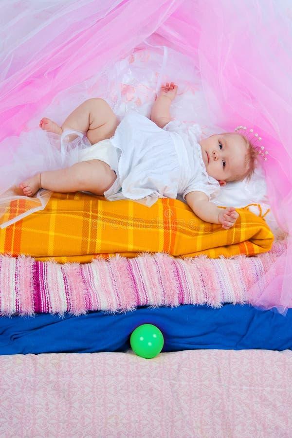 Prinzessin auf einer Erbse stockbild