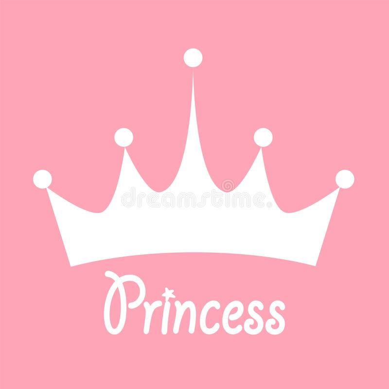 Prinzessin Background mit Kronen-Vorrat-Vektor-Illustration stock abbildung
