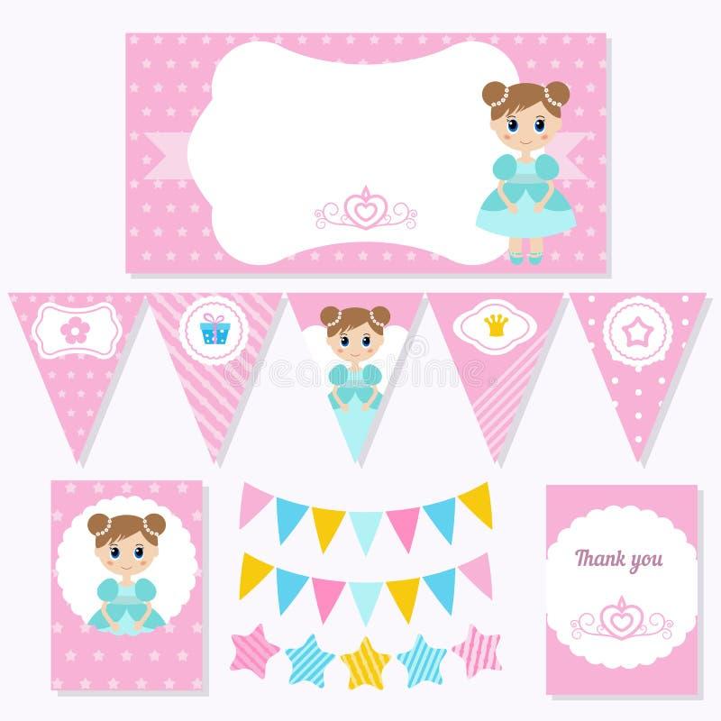 Prinzessin Birthday vektor abbildung