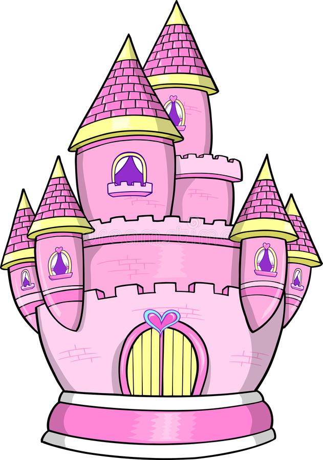 Prinzessin Castle Vector Illustration stock abbildung