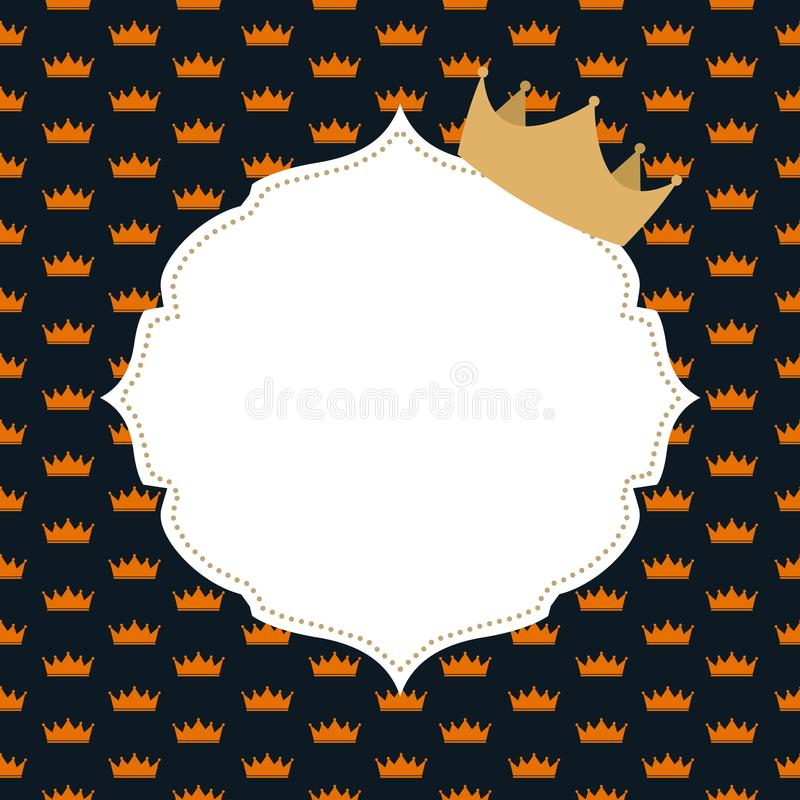 Prinzessin Crown Background Vector Illustration stock abbildung